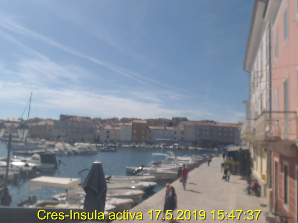 Cres webcam - Cres - Fortis - Luka - Port -Stari grad - Old city webcam, Kvarner Gulf, Cres